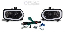 Polaris Scrambler 850 1000 RZR 800 900 BLACK LED w/ HALO Headlights & Harness